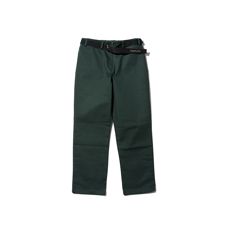 COTTON BELT PANTS - GREEN
