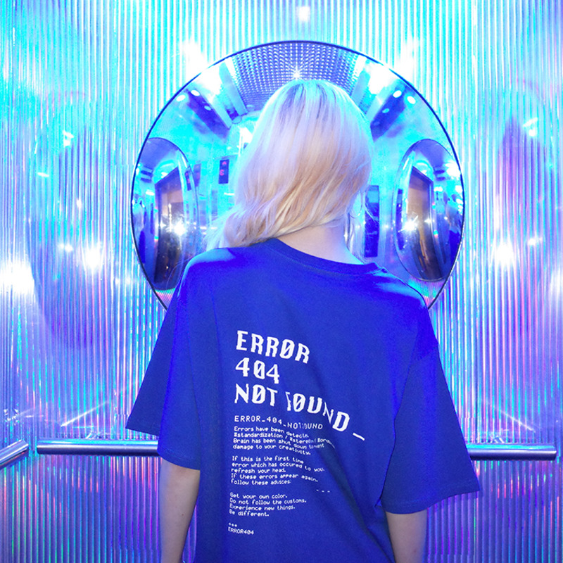 [오드단독핫세일]Blue Screen T-shirt (Blue)