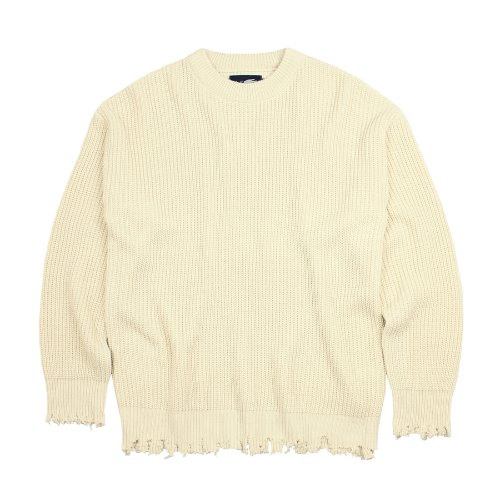 DAMAGE KNITWEAR - IVORY