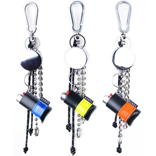 REFLECT LIGHTER WIRE KEYRING - 3COLOR