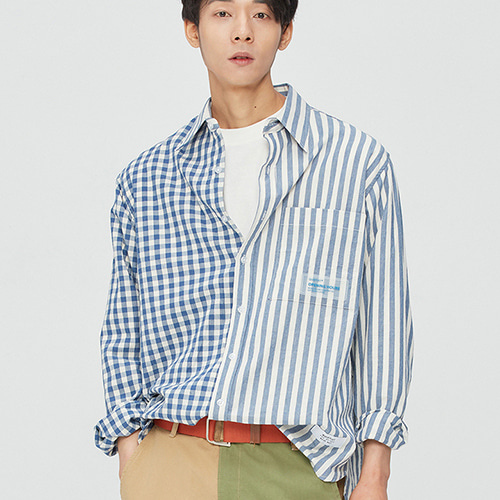 [세븐틴민규착용]Summer Ombre Mix-shirts (blue)
