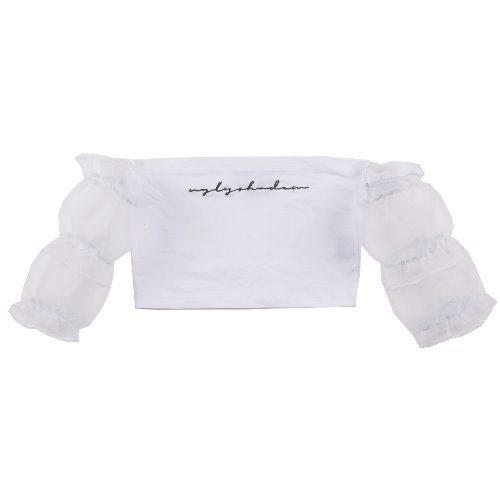 UGLYSHADOW_SHIRRING CROP TOP(WHITE)