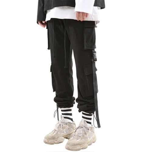 BUCKLE STRING JOGGER PANTS