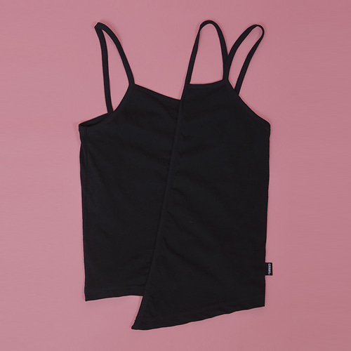UNBALANCE SLEEVELESS_BK