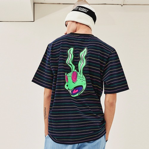 INTO GR T-SHIRT STRIPE NAVY