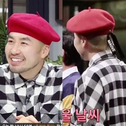 [노홍철착용]LOGO RIBBON BERET (red)