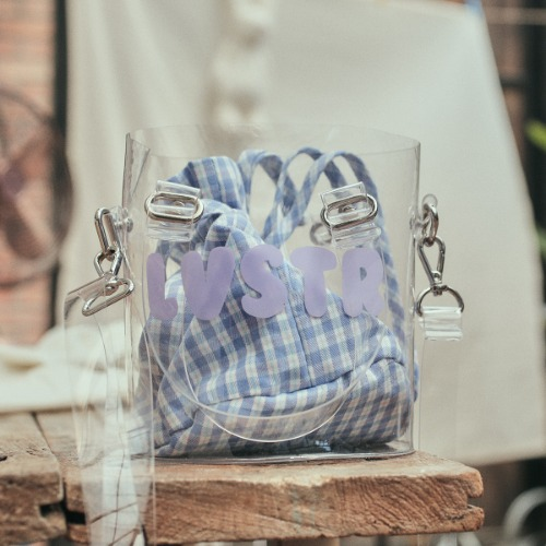 LU CHECK POUCH(BLUE)