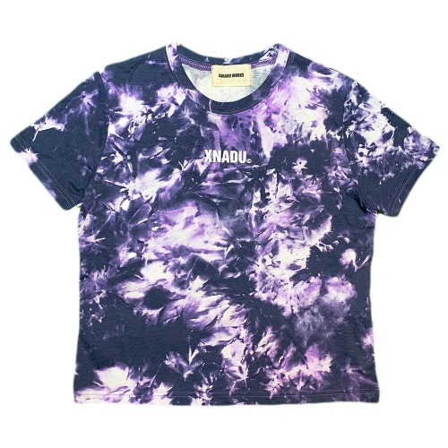 TIE-DYED CROP - BLACK/PURPLE