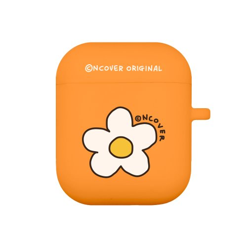 Flower point-orange(airpods jelly case)