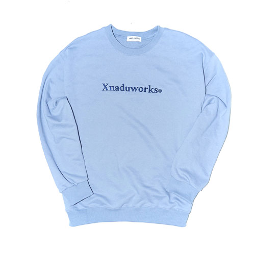 LETTERING PUCNCHED SWEATSHRITS - SKY BLUE