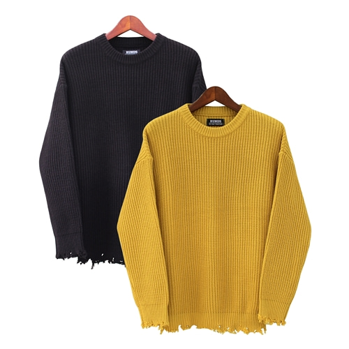 [오드단독할인]DAMAGE KNITWEAR - 2COLOR