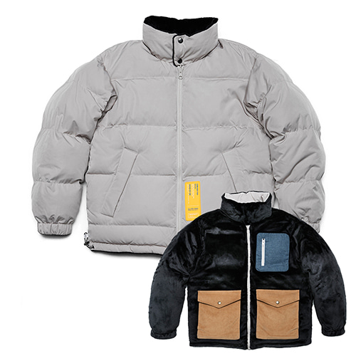 [오픈세일]Arctic Reversible Fleece Duck Down Padding (gray)