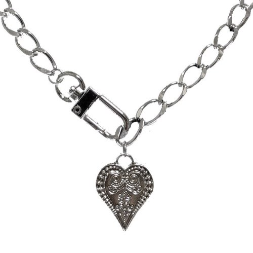 Heart keyring necklace