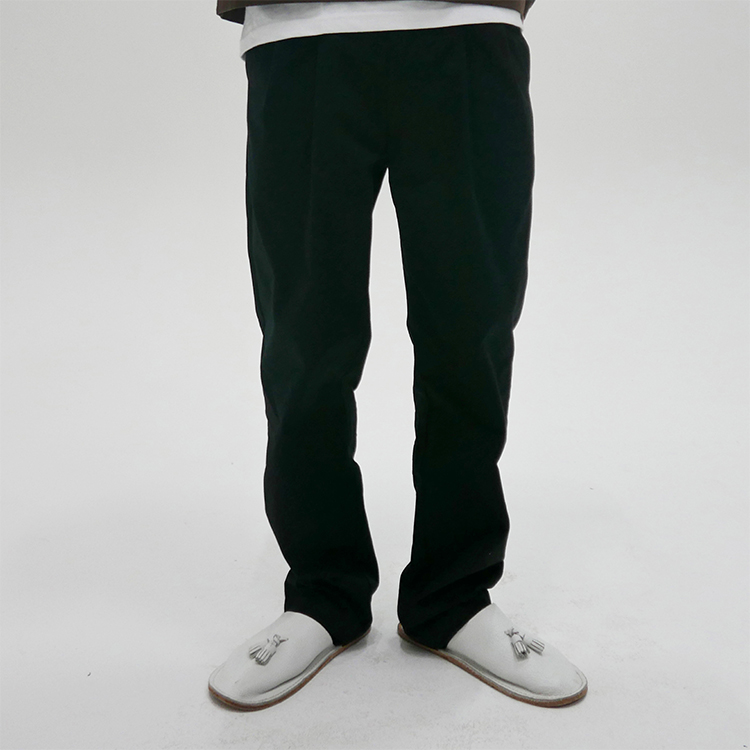 WRINKLE TROUSERS - BLACK
