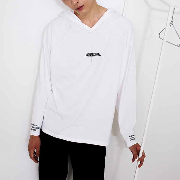PLACKET HOOD - WHITE
