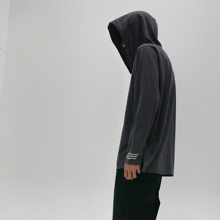 PLACKET HOOD - GRAY