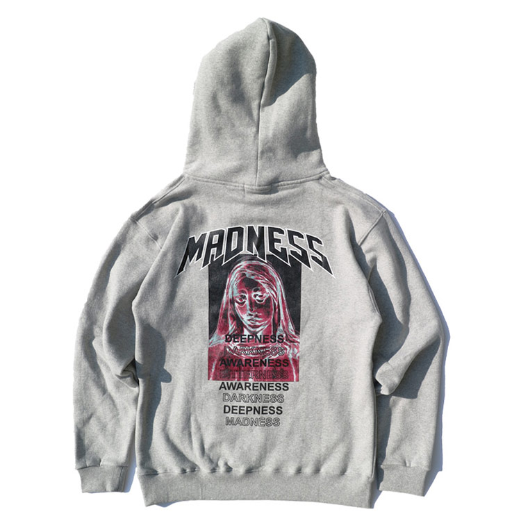 MADNESS HOODIE - GREY