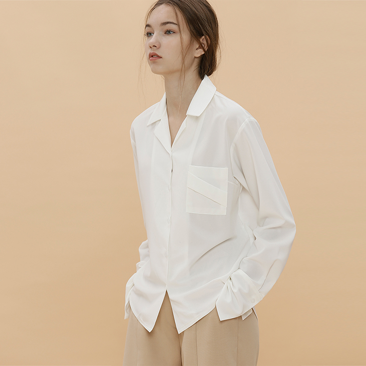BASIC PAJAMA SHIRT - IVORY