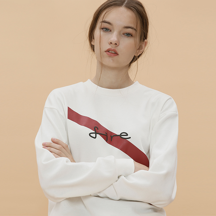 FIRE SWEAT SHIRT -IVORY