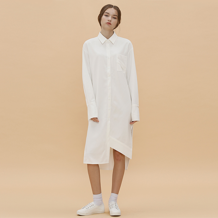 D.POINT LONG SHIRT - IVORY