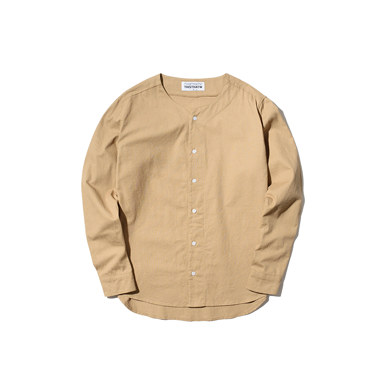 BASEBALL SHIRT - BEIGE