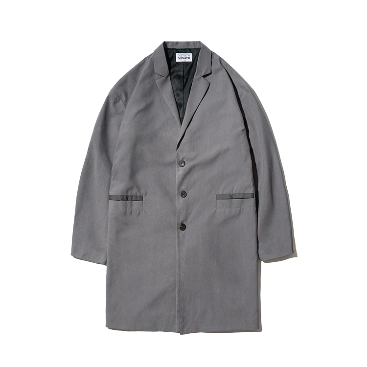LINE POCKET COAT - GRAY