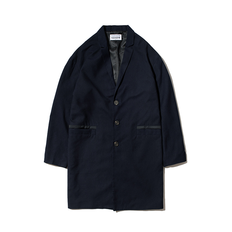 LINE POCKET COAT - NAVY