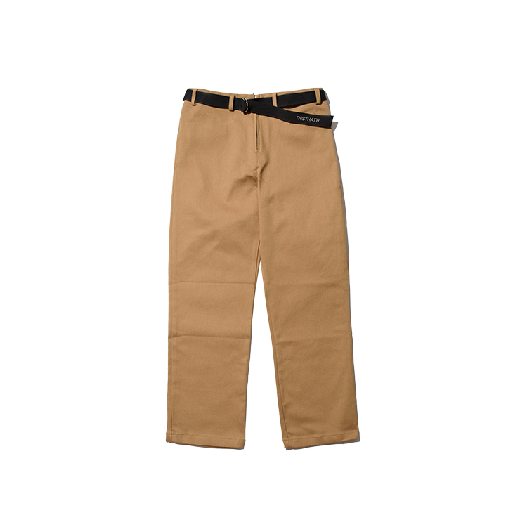 COTTON BELT PANTS - BEIGE