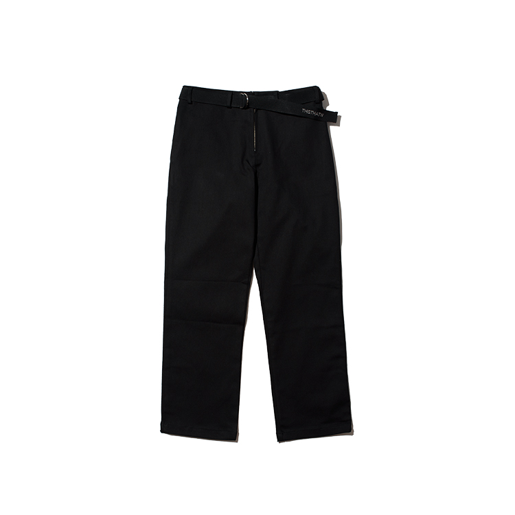 COTTON BELT PANTS - BLACK