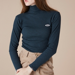 THINK BASIC TURTLENECK - GREEN