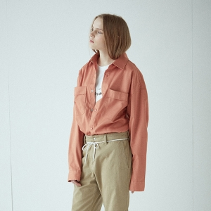 Snap Over Shirt - CORAL