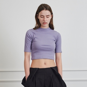 SCULPTOR CROP T-SHIRTS - PURPLE