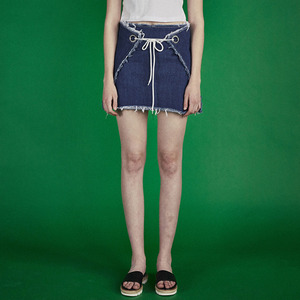 Ring mini skirt - DENIM