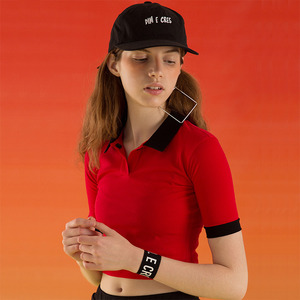 DIM. E CRES. PK CROP T-SHIRTS - RED
