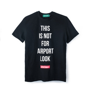 A-LOOK BASIC T-SHIRTS - BLACK