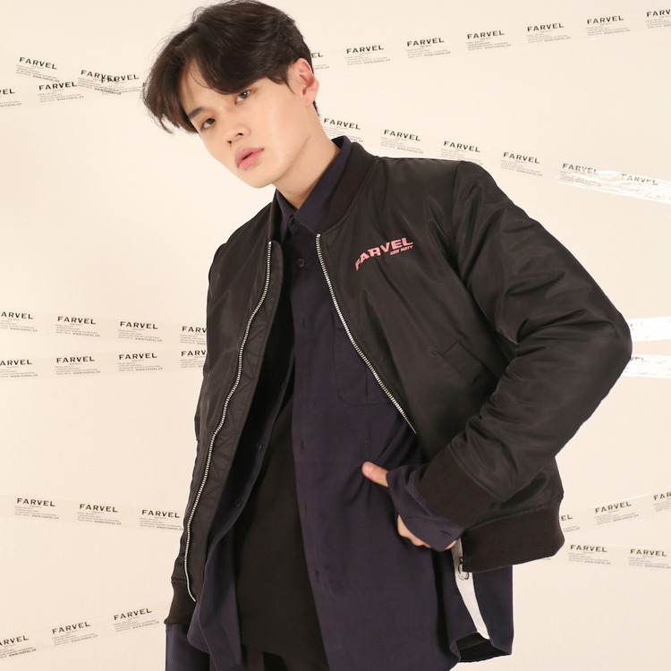 16FW CIRCLE EMBROIDERY BOMBER - BLACK