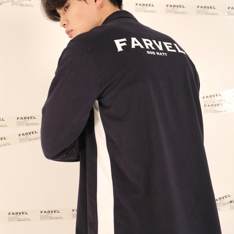 16FW LINE SHIRTS - NAVY