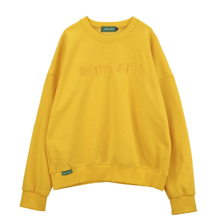 EMB OVERSIZE SWEATSHIRTS - YELLOW