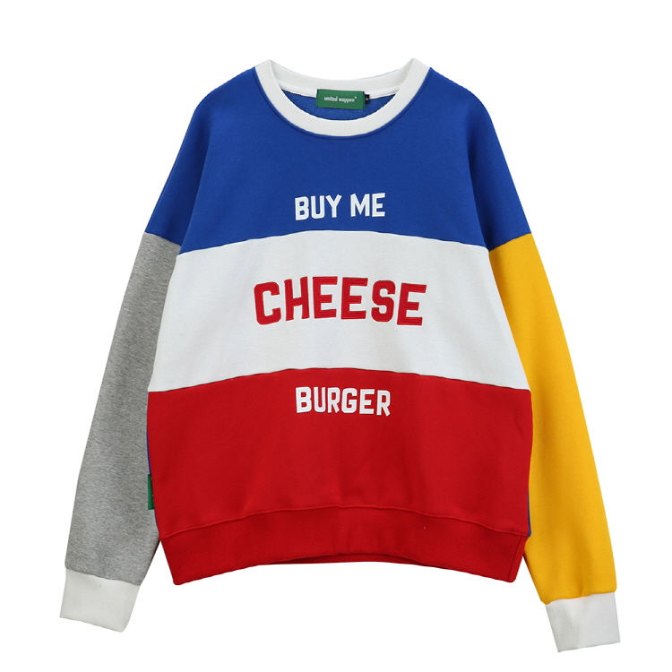 CHEESE OVERSIZE SWEATSHIRTS - BLUE