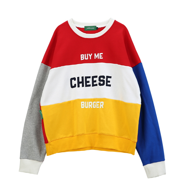 CHEESE OVERSIZE SWEATSHIRTS - RED