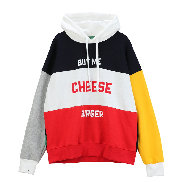 CHEESE OVERSIZE HOODY - BLUE