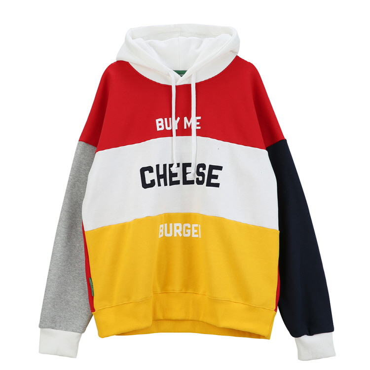 CHEESE OVERSIZE HOODY - RED