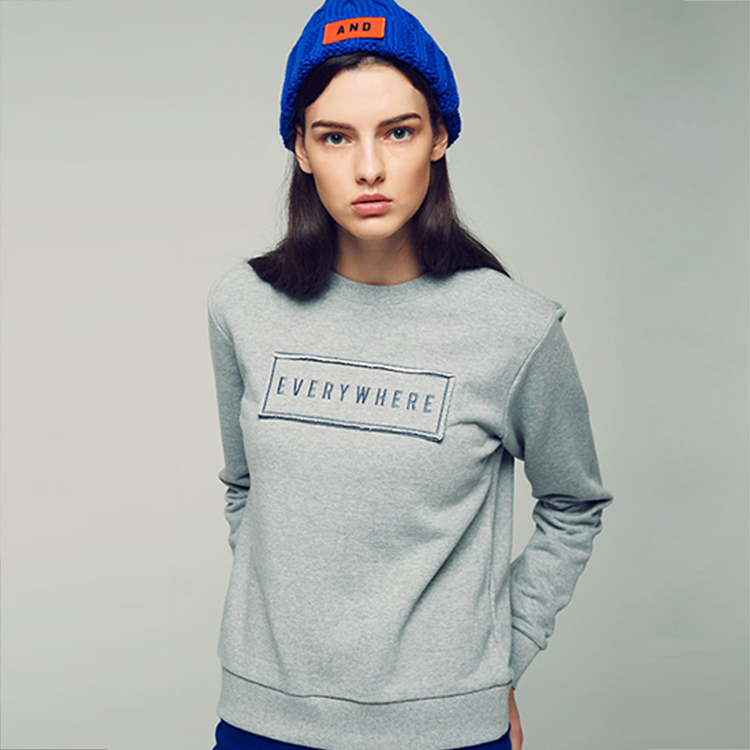 WAPPEN POINT SLIM SWEATSHIRT - MELANGE GREY