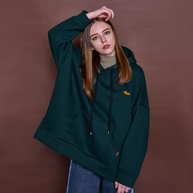 BUCLE CLVR HOODY - GREEN