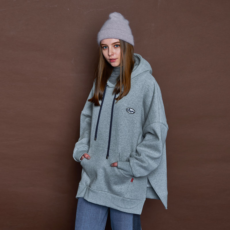 BUCLE CLVR HOODY - GREY