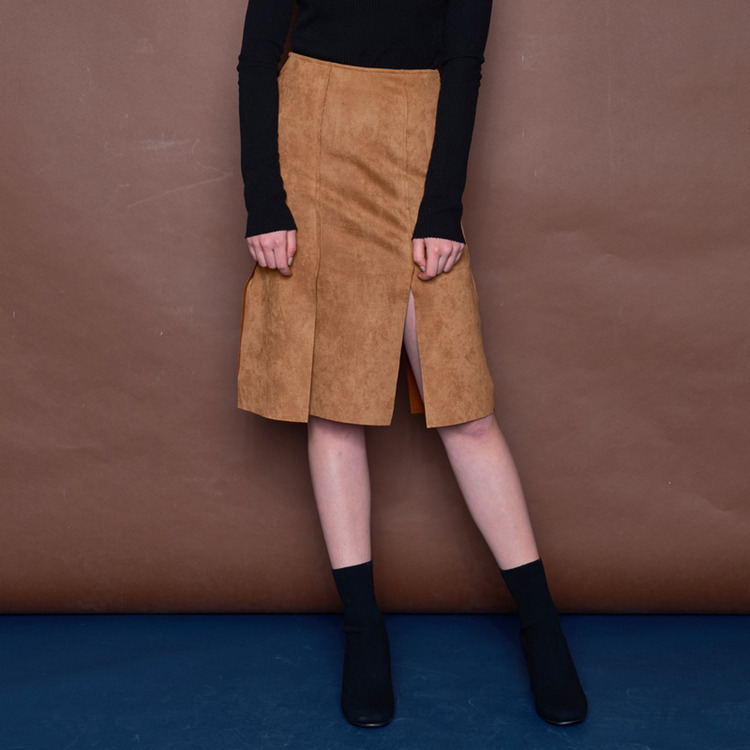 SIX SLIT SK - BROWN