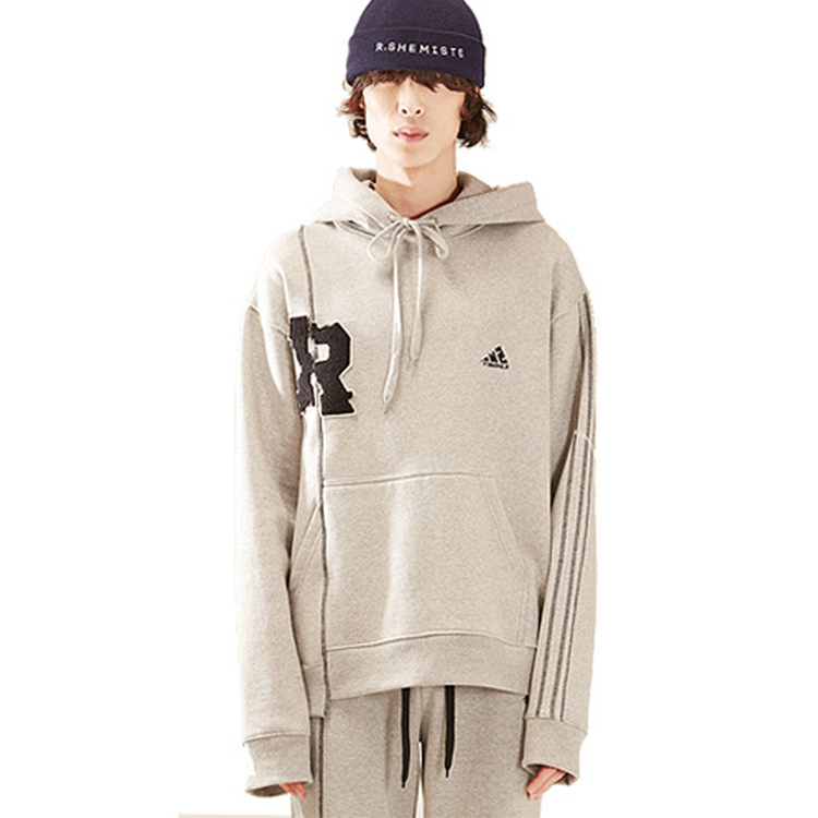 R patch stich hood homme - GRAY