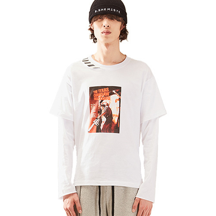 old movie grapic top homme - WHITE