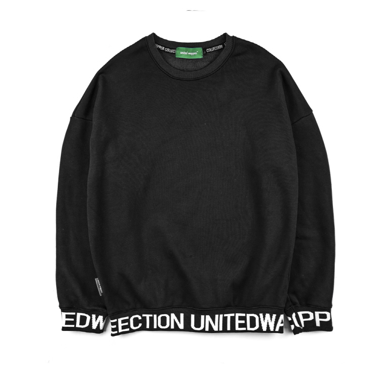 LINE UP OVERSIZE SWEATSHIRTS - BLACK