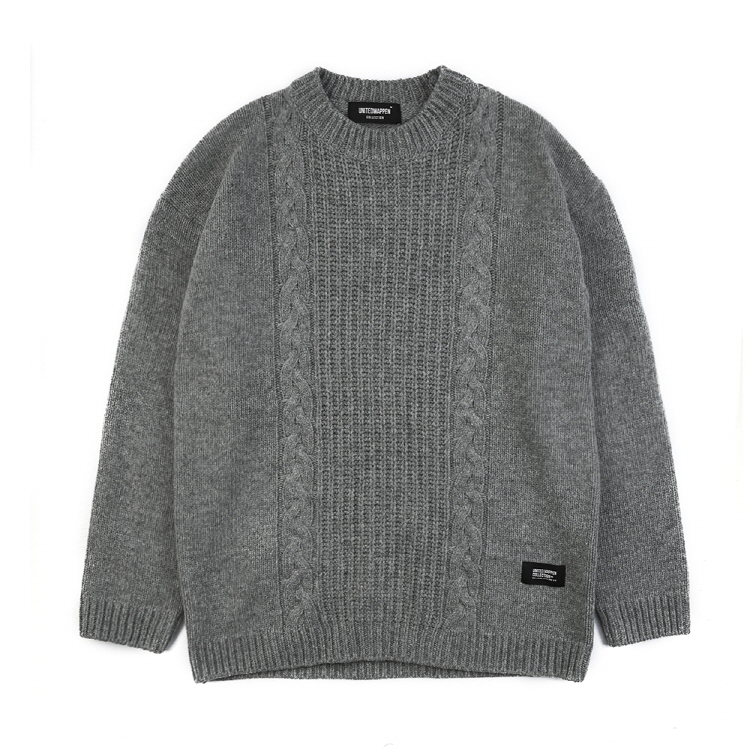 Tailed Oversize Wool Knit (Grey)